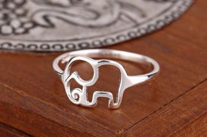 Sterling Silver Elephant Ring - Olafo's