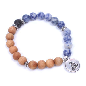 Natural Stone and Wood Beads Tibetan Silver Buddha - Olafo's