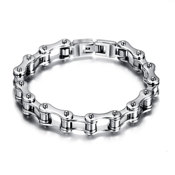 Motorcycle Biker Fashion Stainless Steel Men's Bracelet - Olafo's