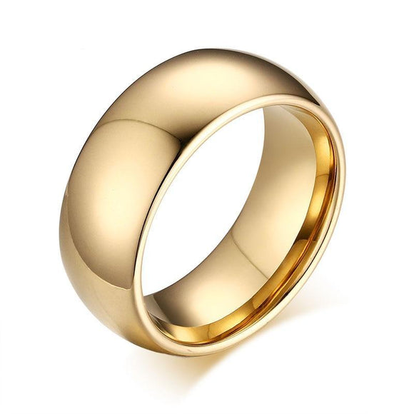 Classic Tungsten Carbide Gold Ring - Olafo's