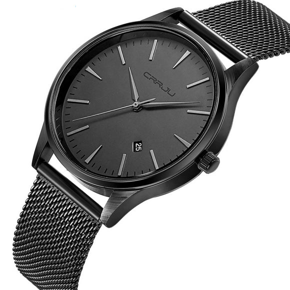 Full Stainless Steel Mesh Strap Mens Classic Watch - Olafo's