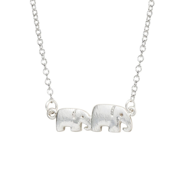 Mother and Baby Elephant Necklace Pendant - Olafo's