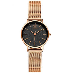 Super Slim Sliver Mesh Stainless Steel Watch for Women - Olafo's