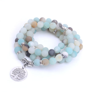 Amazonite beads Tree of Life Charm Bracelet Necklace - Olafo's
