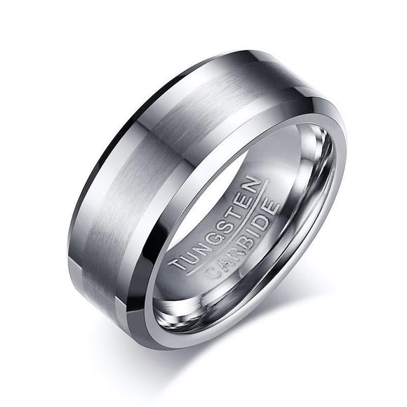 8MM Classic Tungsten Carbide Ring - Olafo's