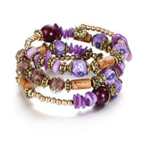 Multilayer Bohemian Beads and Crystal Charms Bracelets - Olafo's