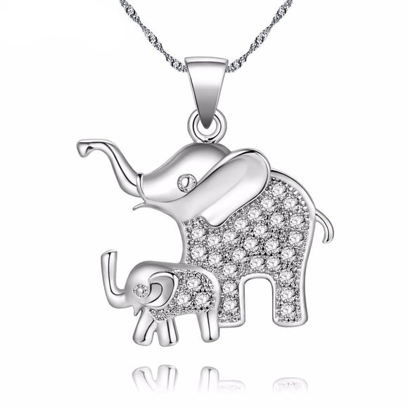 Mom & Baby Elephant Necklace & Pendant - Olafo's
