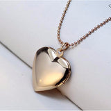 Heart Photo Frame Locket Necklace Silver or Gold - Olafo's