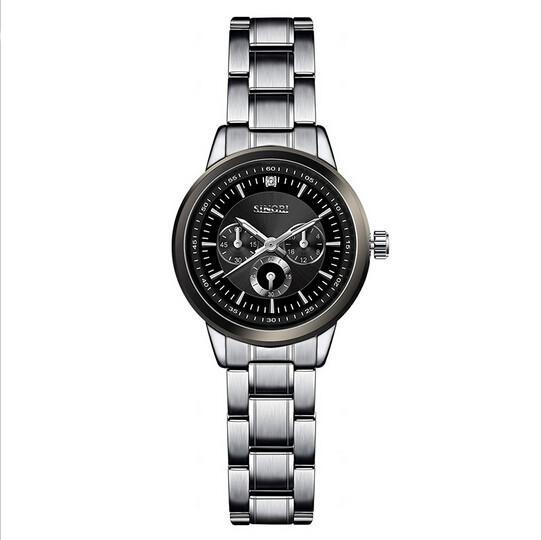 SINOBI Luxury Stainless Steel Silver Watch - Olafo's