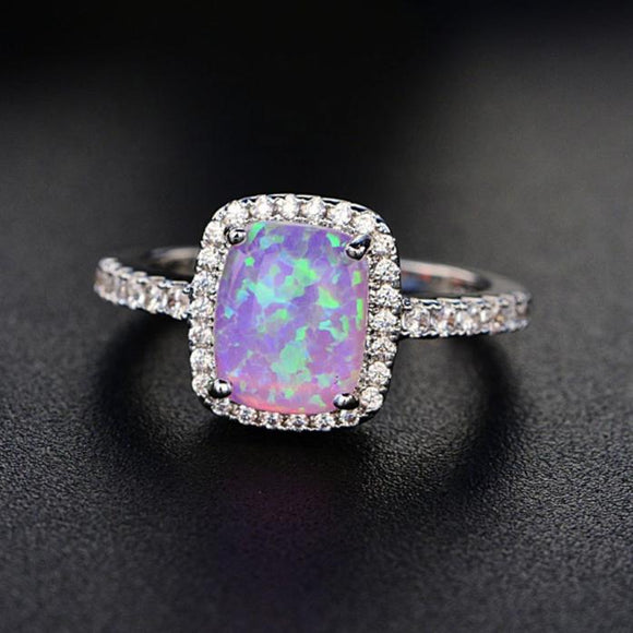 Cubic Zirconia Opal Stone Engagement Party Ring - Olafo's