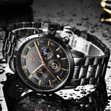 Watch for Men LIGE Sport Quartz Clock Luxury Business Waterproof - Olafo's