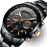 30m Waterproof Stainless Steel Top Brand Luxury Mens Watch - Olafo's