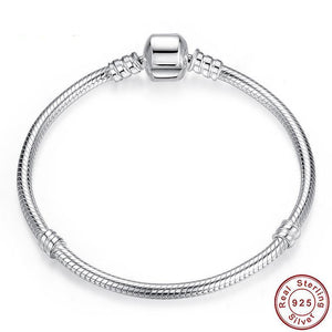 Charms Bracelet 925 Sterling Silver Snake Chain - Olafo's