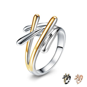 Gold & Rose Gold & Gun Color Cross Ring - Olafo's