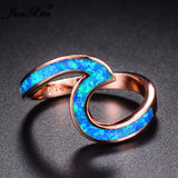 Opal Ocean Wave Ring Rose Gold - Olafo's