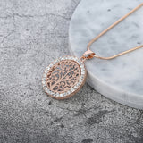Gold, Rose Gold  or Silver Plated Tree Of Life Pendant Necklace - Olafo's