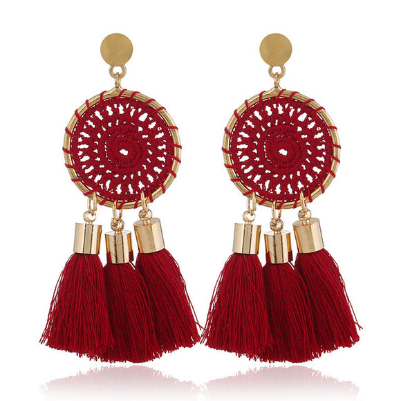 Long Tassel Earrings Drop Dangle - Olafo's