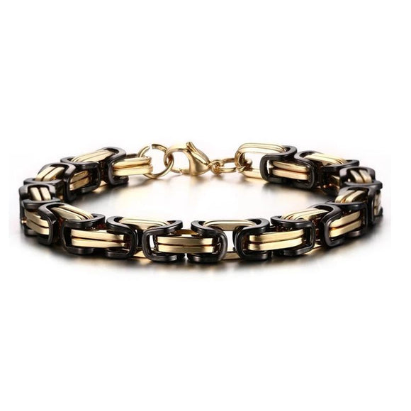 316L Stainless Steel Bracelet Gold and Black - Olafo's