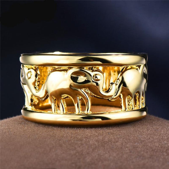 Elephant Ring 18K Yellow Gold Filled - Olafo's