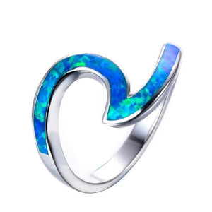 Opal Ocean Wave Ring - Olafo's