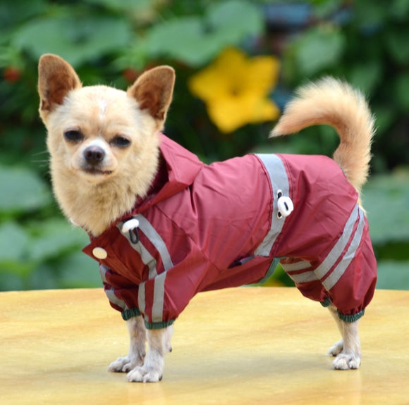 Dog Hooded Waterproof Reflective Raincoat - Olafo's
