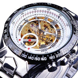 Sport Golden Watch Clock Men Automatic Skeleton - Olafo's
