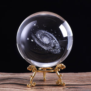 3D Laser Engraved Galaxy Crystal Ball - Olafo's