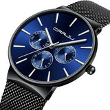 Waterproof Ultra Thin Mens Watch Mesh Strap Casual Quartz - Olafo's