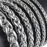 Stainless Steel Silver Wheat Link Bracelet - Olafo's
