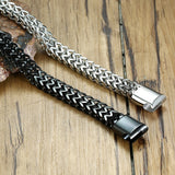 Punk Bracelet For Men Double Chain Link Solid Stainless Steel - Olafo's