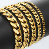 Cuban Curb Link Stainless Steel Men's Bracelet Chain - Olafo's