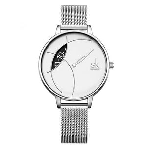 Creative Women Casual Watch Stainless Steel Mesh Band - Olafo's