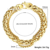 Double Curb Cuban Link Chain Bracelet Stainless Steel - Olafo's