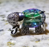 Topaz Elephant Ring 925 Sterling Silver - Olafo's