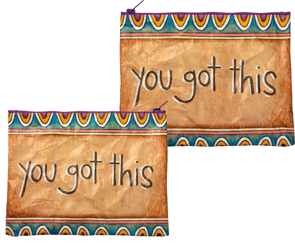 Inspirational Zipper Pouch - 2 Versions - piper-and-dune - Women's Accessories