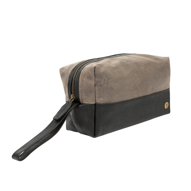 The Classic Waxed Canvas Wash Bag by MAHI Leather - piper-and-dune - Leather Goods