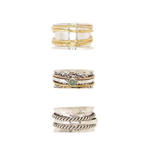 Rotating Metal Rings in GB Asst 3 Styles 2 Sizes - piper-and-dune - Jewelry