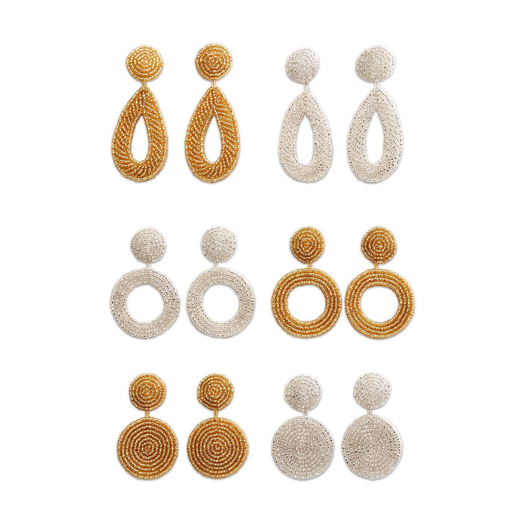 Seed Bead Earrings - 3 Styles 2 Colors - piper-and-dune - Jewelry