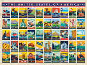 American States Puzzle - 500 Pieces