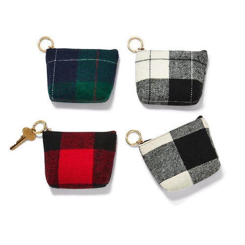 Classic Plaid Zippered Purse Keychain - piper-and-dune - Women's Accessories