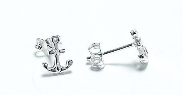 Sterling Silver Anchor Earrings - piper-and-dune - Jewelry
