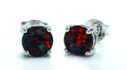 Sterling Silver Garnet CZ Set - piper-and-dune - Jewelry