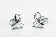 Sterling Silver Ribbon Earrings - piper-and-dune - Jewelry