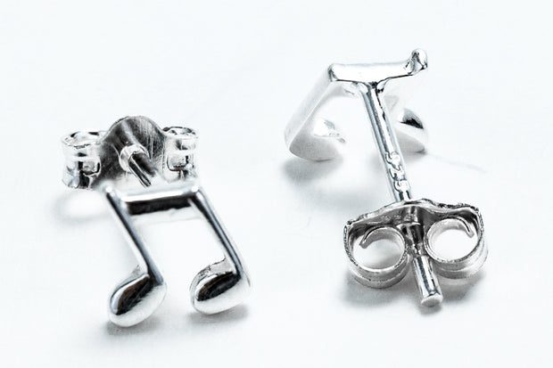Sterling Silver Music Note Earrings - piper-and-dune - Jewelry
