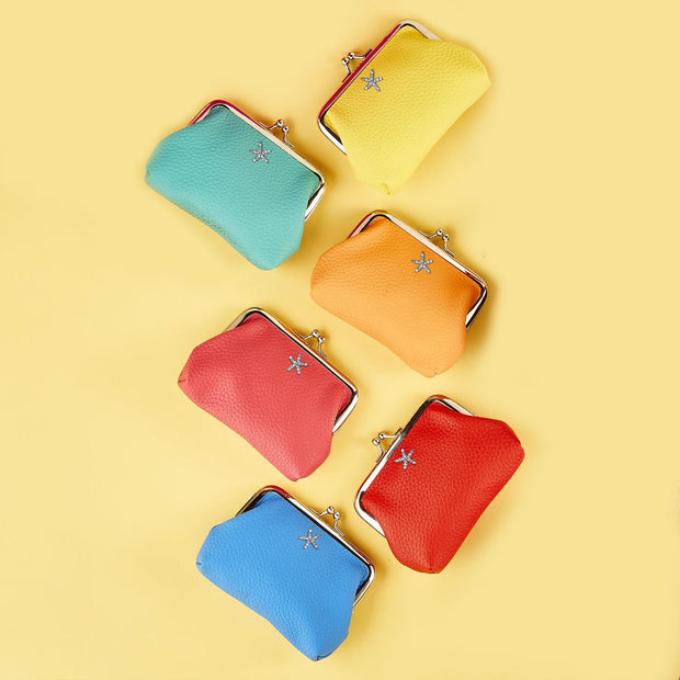 Vegan Leather Coin Purse - 6 Colors