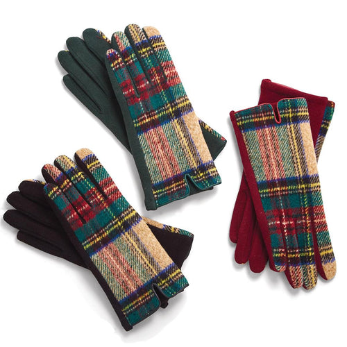 Plaid Gloves w/Touchscreen - 3 Colors - piper-and-dune - Women's Accessories