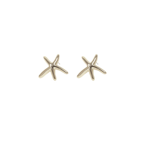 Dancing Starfish Stud Earrings - Silver