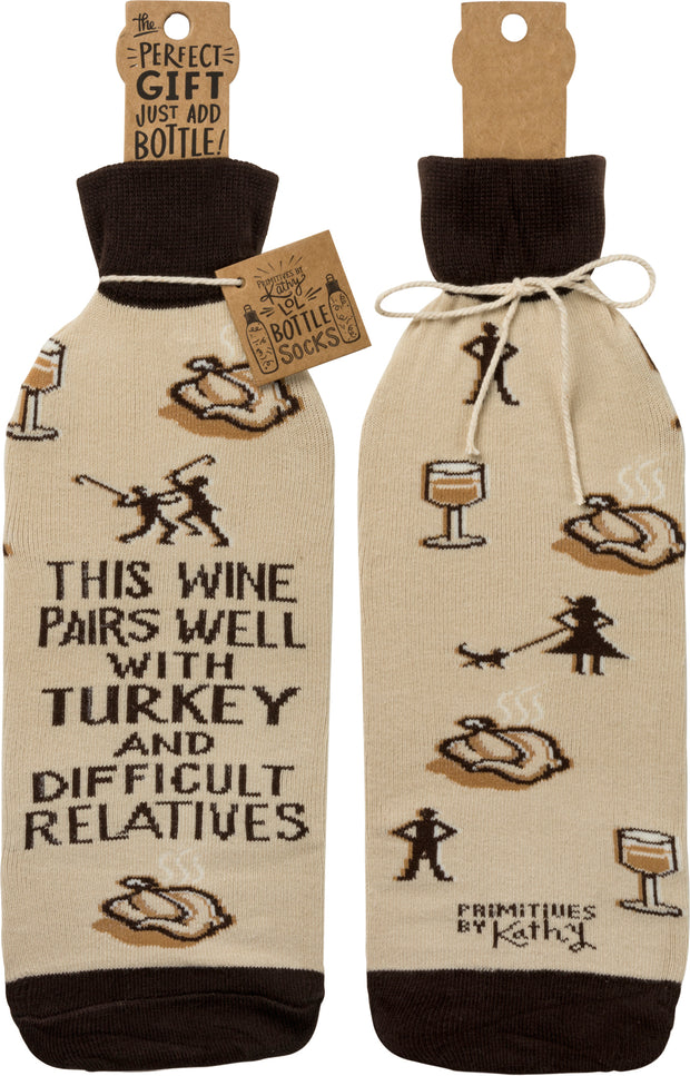 Fun Holiday Bottle Socks - piper-and-dune - Home Goods