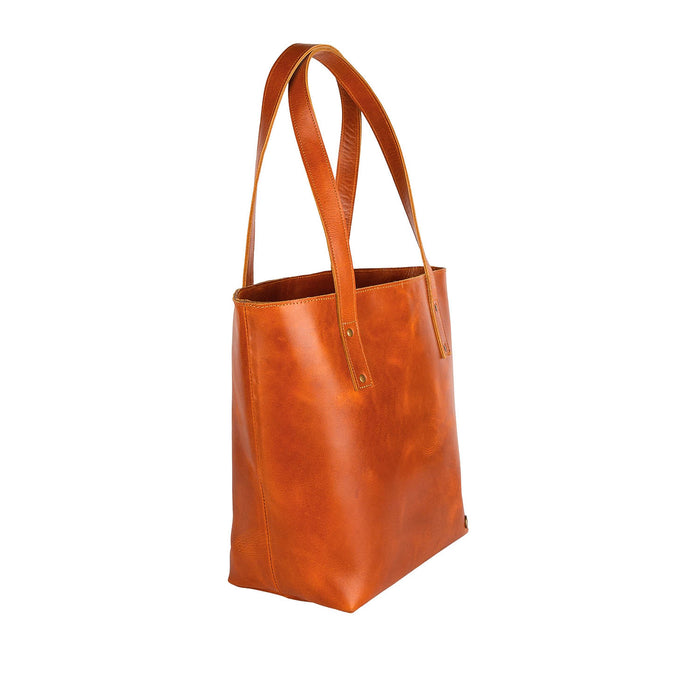 The Tan Leather Tote by MAHI Leather - piper-and-dune - Leather Goods
