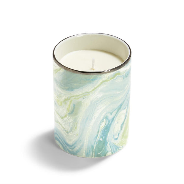 Suminagashi Ocean Mist Scented Candle in Gift Box